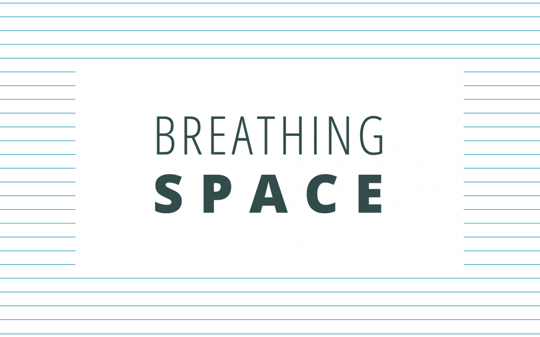Create breathing room by embracing white space